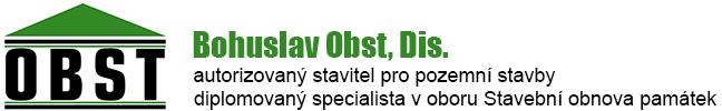 Bohuslav Obst – autorizovaný stavitel pro pozemní stavby Logo